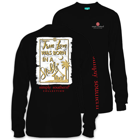 SALE Simply Southern Preppy True Love Holiday Long Sleeve T-Shirt