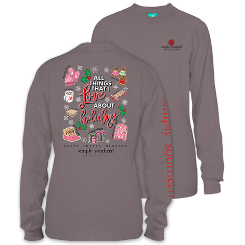 SALE Simply Southern Preppy Love About The Holidays Long Sleeve T-Shirt