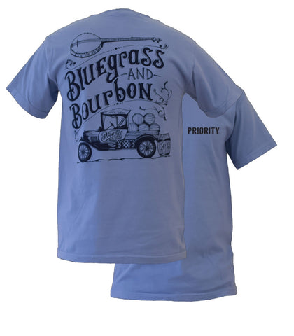 Southern Couture High Priority Bluegrass & Bourbon Unisex Bright T Shirt