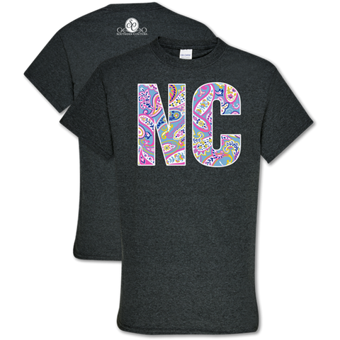 Southern Couture Soft Collection Paisley North Carolina T-Shirt