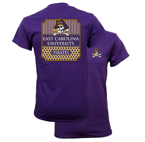 Southern Couture University of East Carolina ECU Pirates Classic Preppy Girlie Bright T Shirt - SimplyCuteTees