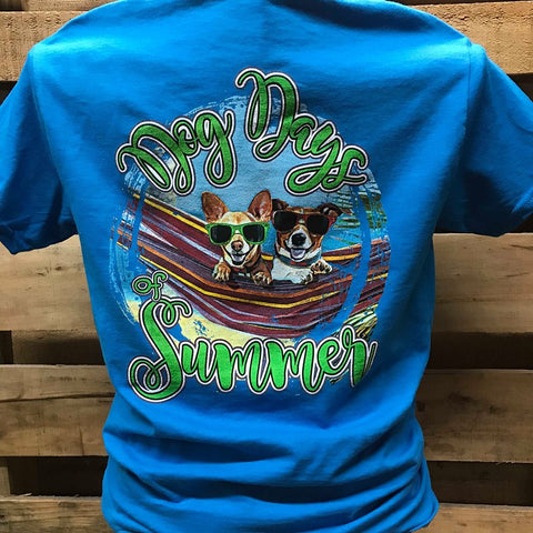 SALE Southern Chics Dog Days of Summer Bright Girlie T Shirt
