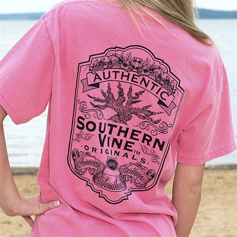 Southern Vine Originals Flagship Roots Run Deep Tree Authentic Unisex Berry  Bright T Shirt - SimplyCuteTees