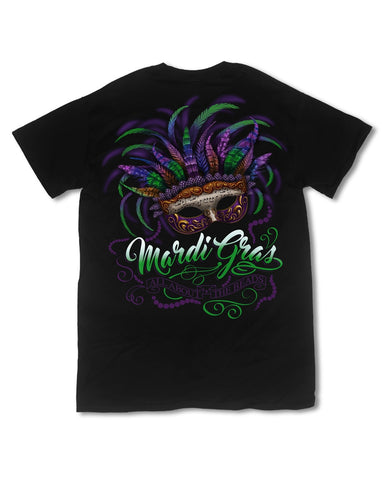 Southern Vine Mardi Gras All About the Beads Girlie Bright T-Shirt