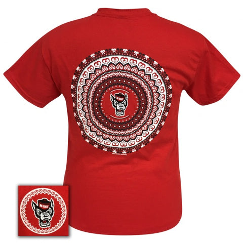 North Carolina State Wolfpack Preppy Mandala T-Shirt