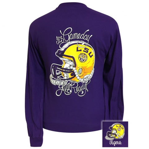 Louisaiana LSU Tigers Its Gameday Yall Ready Long Sleeve T-Shirt