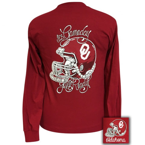Oklahoma Sooners Its Gameday Yall Ready Long Sleeve T-Shirt