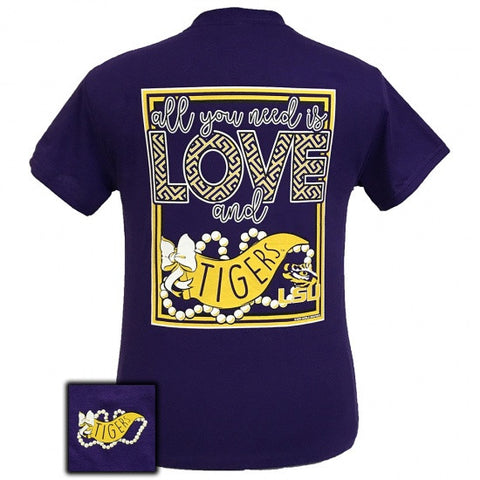 Louisiana State LSU Tigers All You Need Is Love T-Shirt