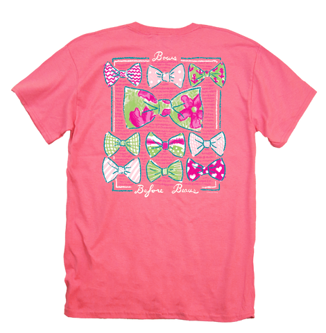 Itsa girl Thing Bows Before Beaus Preppy Bright Girlie T-Shirt