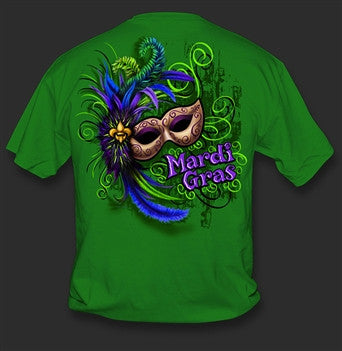 Sweet Thing Funny Mardi Gras Mask Beads Green Girlie Bright T-Shirt - SimplyCuteTees