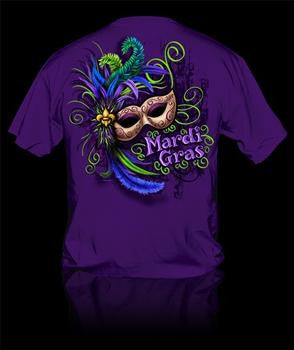 Sweet Thing Funny Mardi Gras Mask Beads Girlie Bright T-Shirt