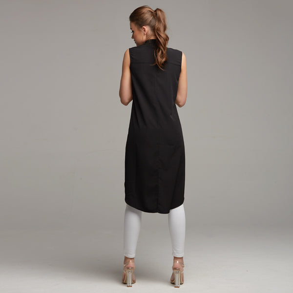 AMELIE BLACK LONGLING TUNIC - CT021