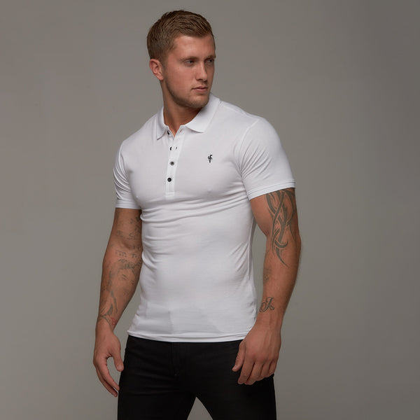Father Sons Classic White Polo Shirt - FSH047