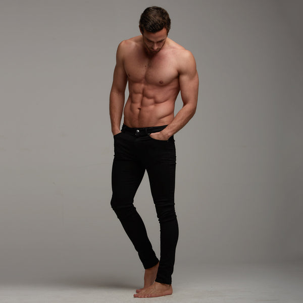 Father Sons Slim Stretch Black Jeans - FSH102