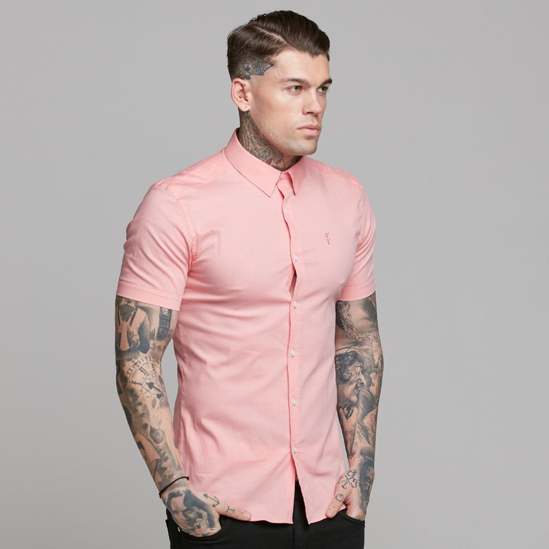 Father Sons Super Slim Ultra Stretch Pink Short Sleeve - FS519