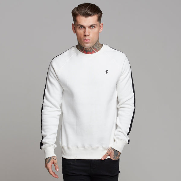 Father Sons Classic Off White With Black Stripes Jumper - FSH258