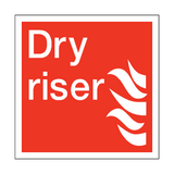 Dry Riser Square Sign | PVC Safety Signs | Health and Safety Signs
