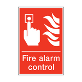 Fire Alarm Control Sign | PVC Safety Signs | Health and Safety Signs