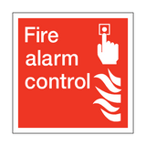 Fire Alarm Control Square Sign | PVC Safety Signs | Health and Safety Signs