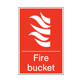Fire Bucket Sign | PVC Safety Signs | Health and Safety Signs