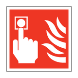 Fire Button Square Safety Sign | PVC Safety Signs | Health and Safety Signs