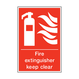 Fire Extinguisher Keep Clear Sign | PVC Safety Signs | Health and Safety Signs