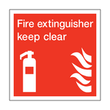 Fire Extinguisher Keep Clear Square Sign | PVC Safety Signs | Health and Safety Signs