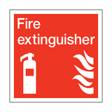 Fire Extinguisher Square Safety Sign | PVC Safety Signs | Health and Safety Signs