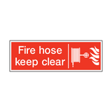 Fire Hose Keep Clear Safety Sign | PVC Safety Signs | Health and Safety Signs
