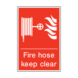 Fire Hose Keep Clear Sign | PVC Safety Signs | Health and Safety Signs