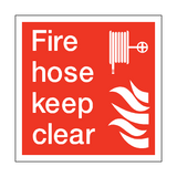 Fire Hose Keep Clear Square Sign | PVC Safety Signs | Health and Safety Signs