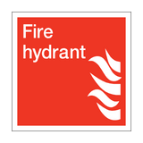 Fire Hydrant Square Sign | PVC Safety Signs | Health and Safety Signs