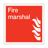 Fire Marshal Square Sign | PVC Safety Signs | Health and Safety Signs