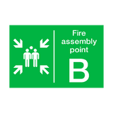 Fire Assembly Point B Sign | PVC Safety Signs | Health and Safety Signs