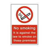 No Smoking Law Sign | PVC Safety Signs | Health and Safety Signs