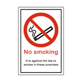 No Smoking Premises Sign | PVC Safety Signs | Health and Safety Signs