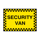Security Van Sign | PVC Safety Signs | Health and Safety Signs