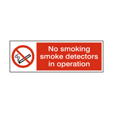 Smoke Detectors In Operation Sign | PVC Safety Signs | Health and Safety Signs