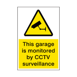 Garage Monitored By Cctv Security Sign | PVC Safety Signs | Health and Safety Signs