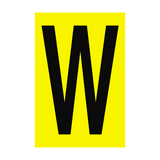 Letter W Yellow Sign | PVC Safety Signs | Health and Safety Signs
