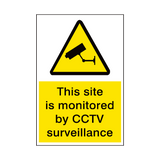 Site Monitored By Cctv Security Sign | PVC Safety Signs | Health and Safety Signs