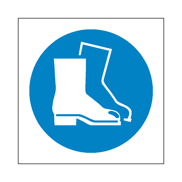 Wear Safety Footwear Symbol Sign | PVC Safety Signs | Health and Safety Signs