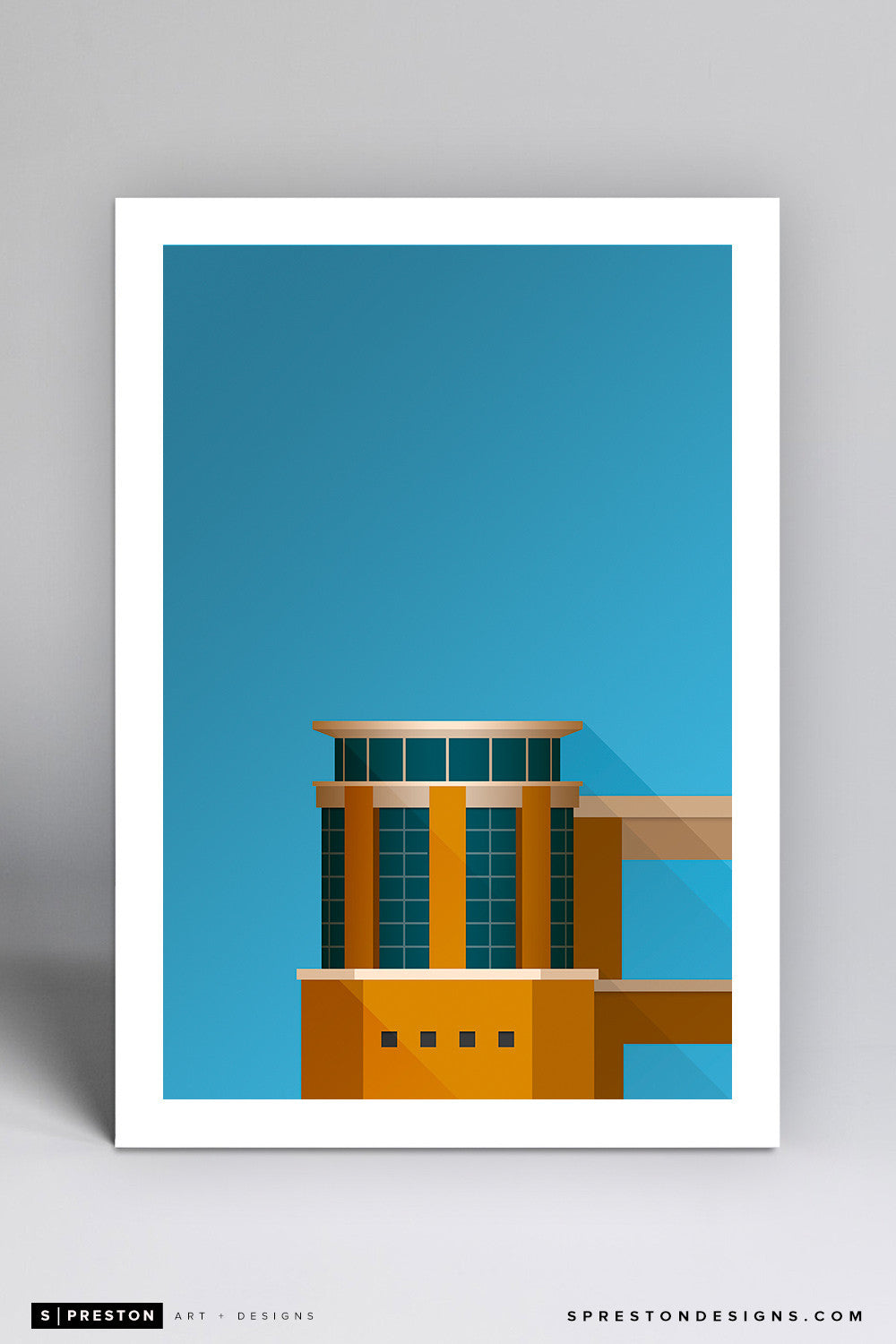 Minimalist Darrell K Royal–Texas Memorial Stadium Art Print - University of Texas - S. Preston Art + Designs