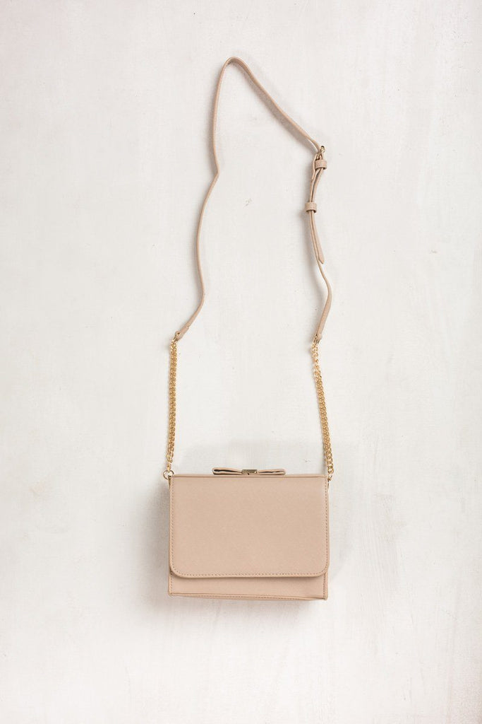 Emma Taupe Bow Crossbody Bag Handbags MMS Taupe