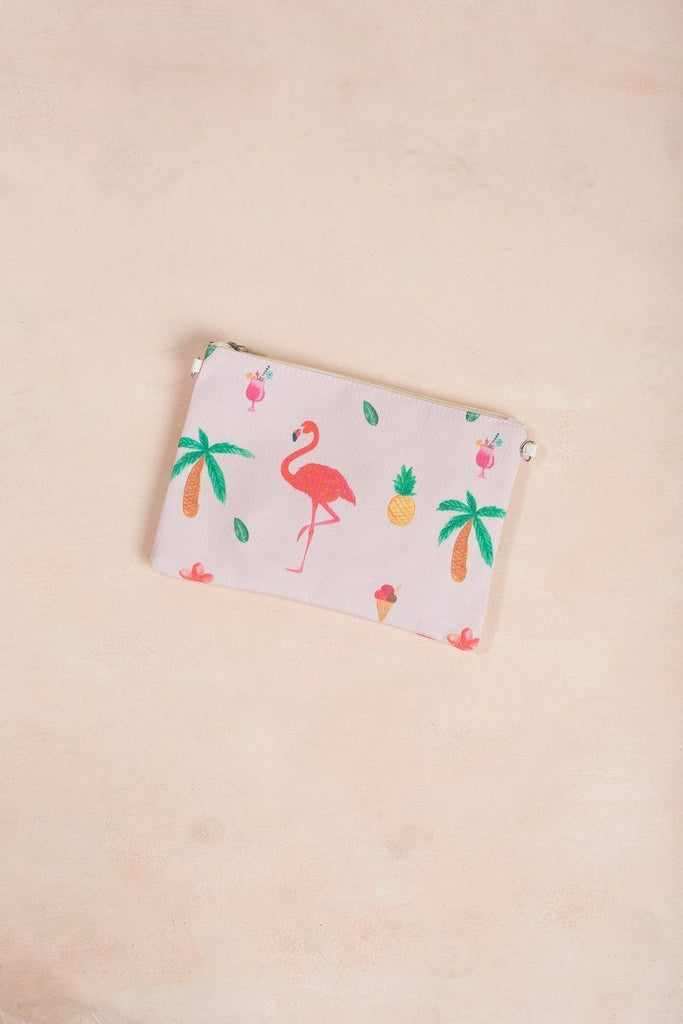 Gina Pink Flamingo Clutch Handbags Fame Pink