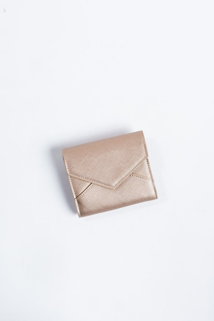 Layla Rose Gold Envelope Wallet Handbags Urban Expressions