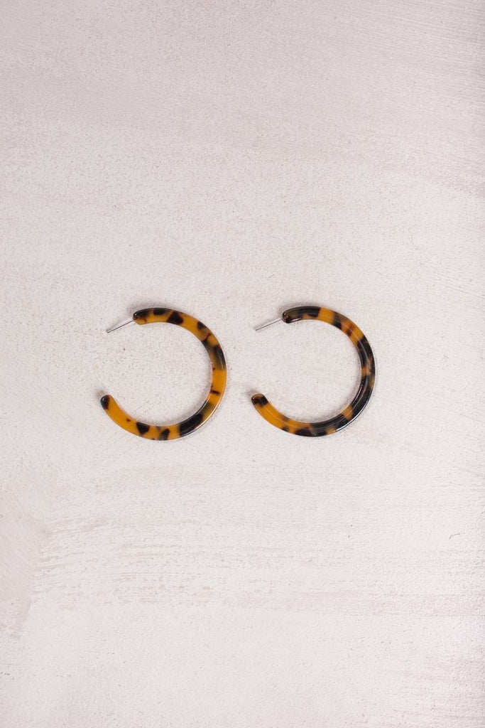 Sandy Leopard Hoop Earrings Earrings Joia Leopard