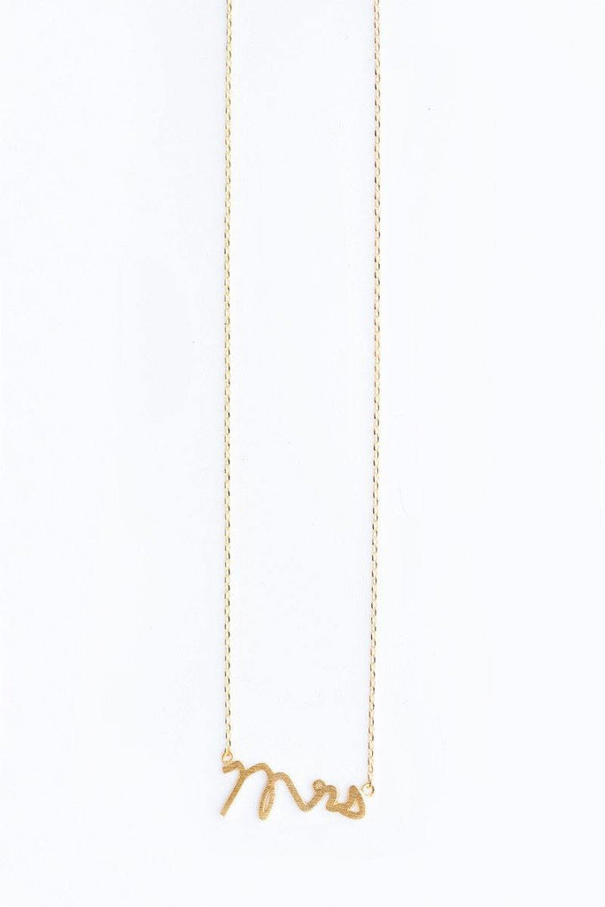 Mila Mrs. Dainty Gold Necklace Necklaces Morning Lavender