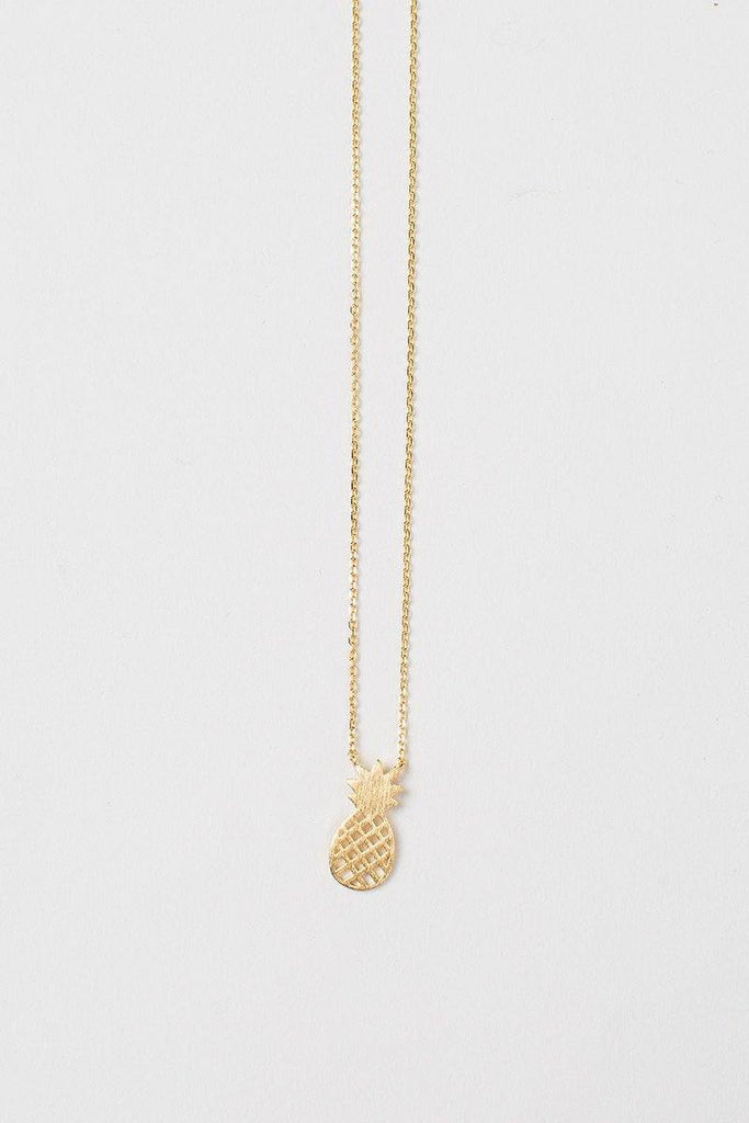 Miley Pineapple Gold Dainty Necklace Necklaces Morning Lavender