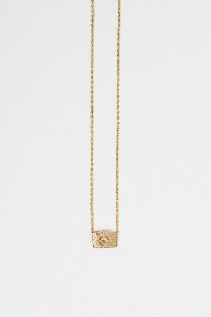 Kaitlyn Gold Camera Necklace Necklaces Morning Lavender